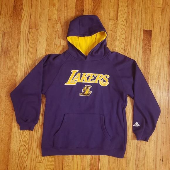 special sales look for fashion Los Angeles Lakers Adidas Hoodie sweatshirt